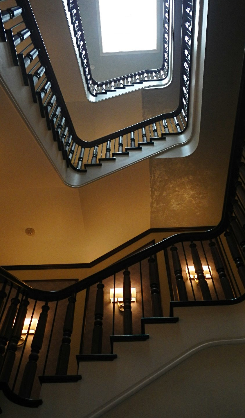 The original Adelphi Hotel banister was used for the remodelled staircase