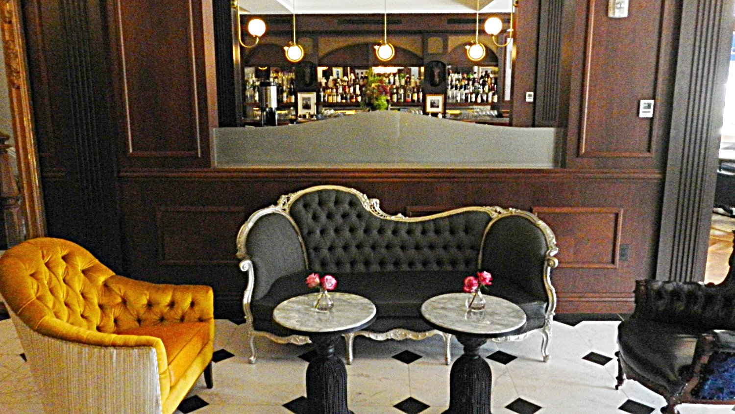 Much of the furnishings at The Adelphi Hotel are original pieces of the hotel, refinished