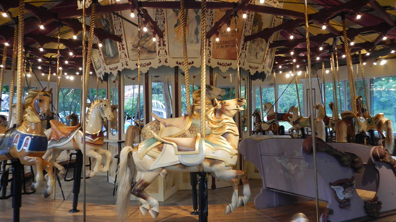 The carousel in Saratoga Springs, NY