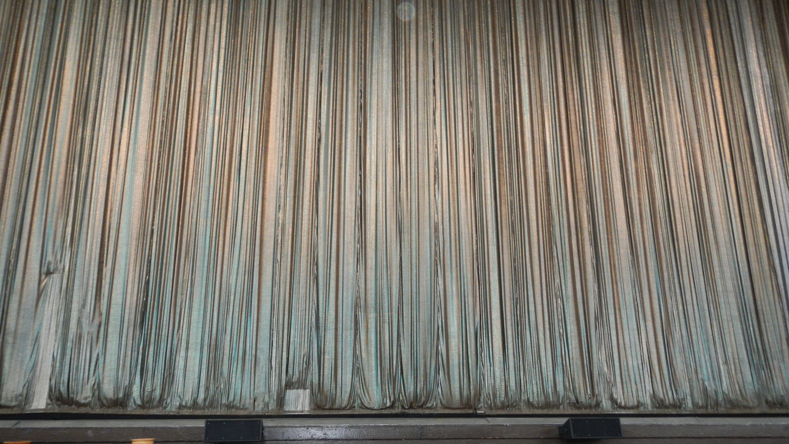 The curtain at SPAC before the New Tork City Ballet performance