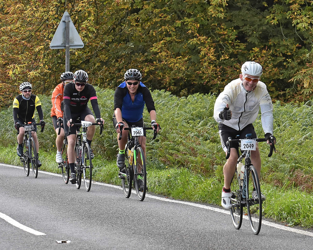 Riders on the North Derbyshire Challenge sportive