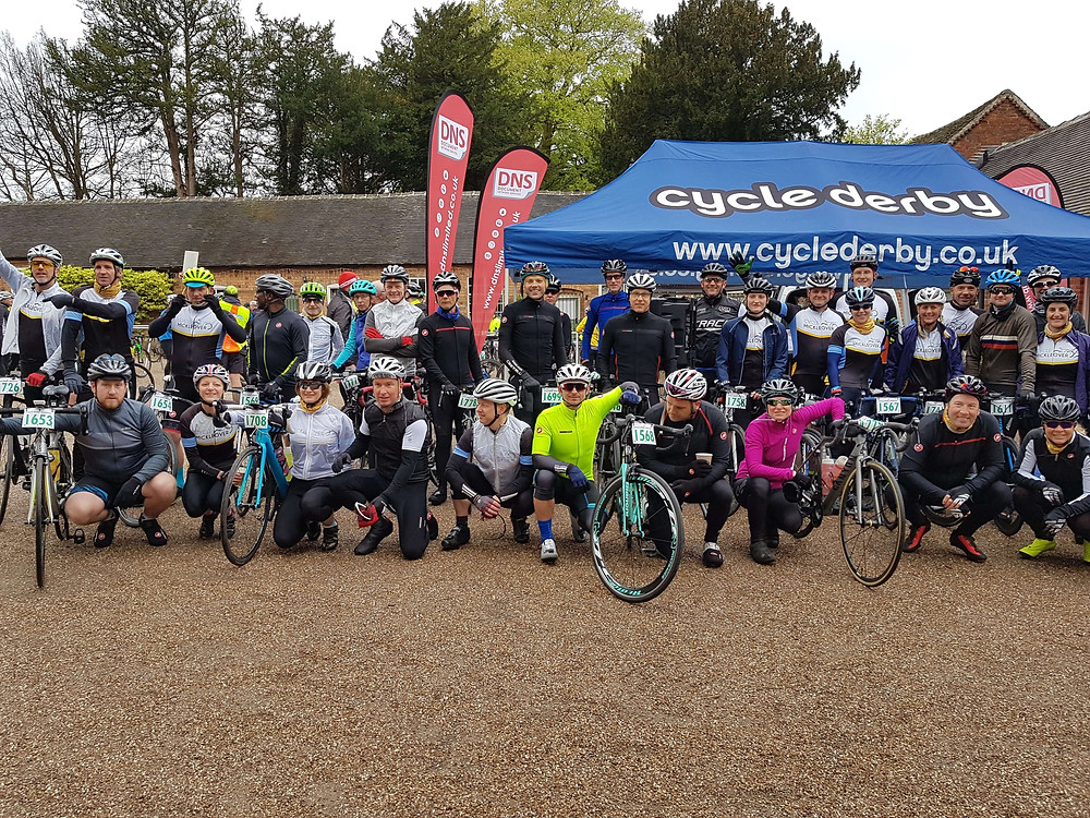 Cycle Mickleover ready to start the Spring Classic on Sunday 29th April