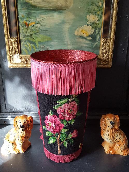 VASE Modèle fleurs franges roses - Moyen modèle