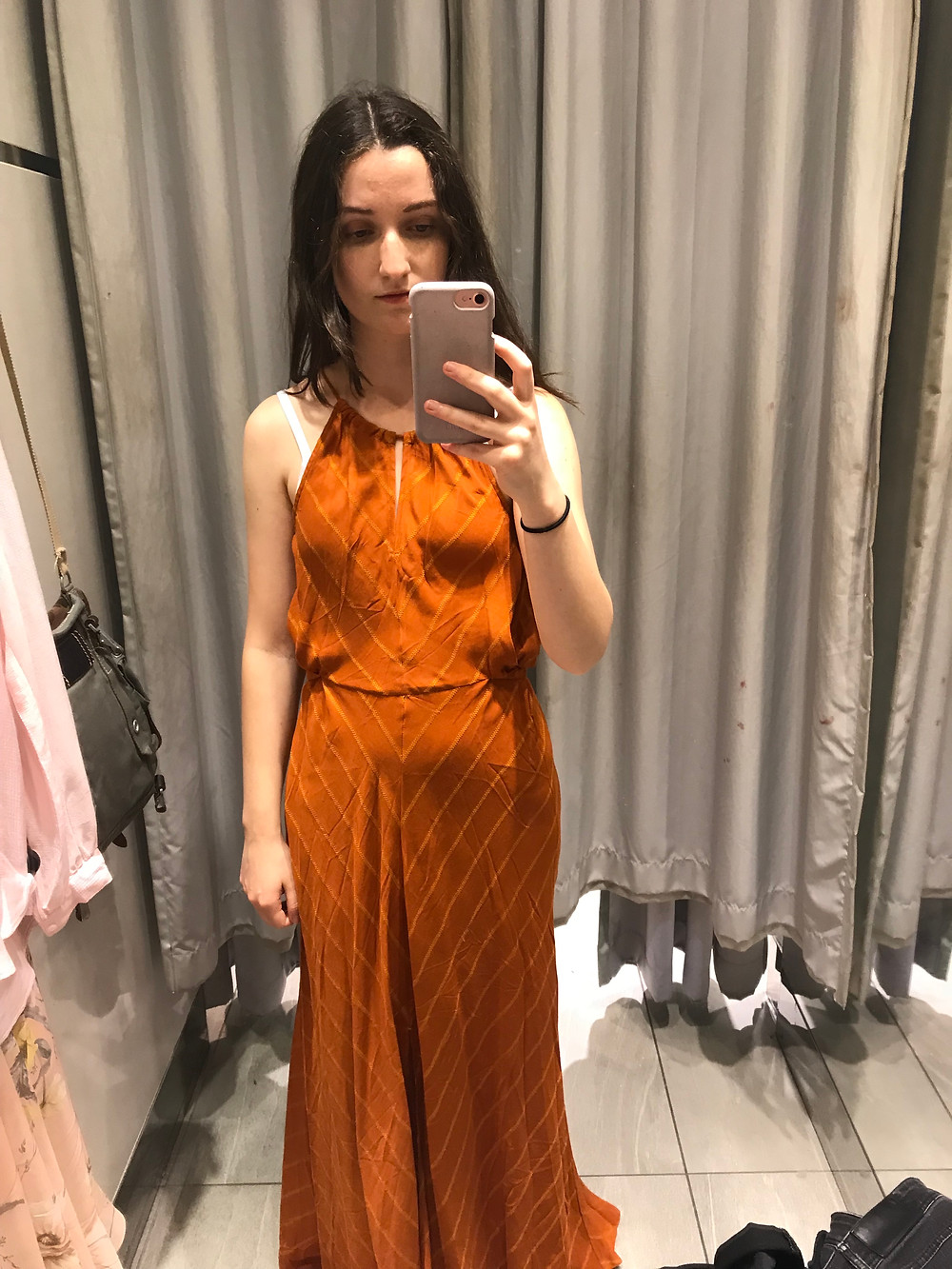 purposeful fits, h&m conscious collection review, h&m unflattering, fast fashion, extra fabric, misplaced bust, poorly constructed dress, h&m greenwashing, h&m sustainable, greenwashing