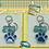 Thumbnail: Dog Bone & Paw Print Keychain
