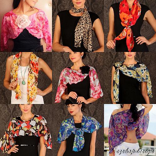 Pirose by Reno Rose Fashion Multi way Scarf Shawl + Carry Bag (Size: Short)
