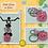 Thumbnail: Fun Animal Head Keychain w/Bow-knot Charm