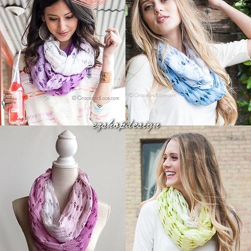Grace and Lace Linen Skip-Stitch Scarf™