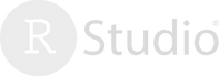 RStudio logo faded