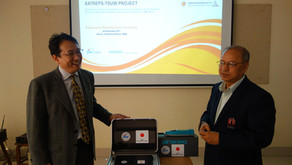 Microtremor measurement system and Schmidt hammers were handed over to HBRI