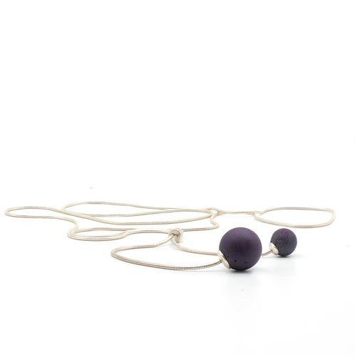 Pearl Necklace | Violett | Silver
