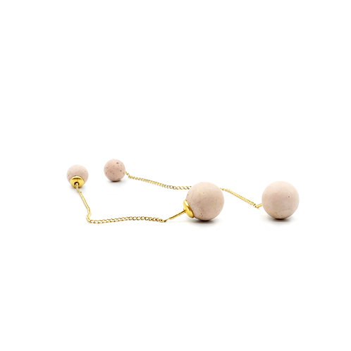 Pearl Earring | Soft Rosé | Gold