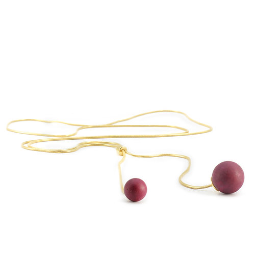 Pearl Necklace | Very Berry | Gold