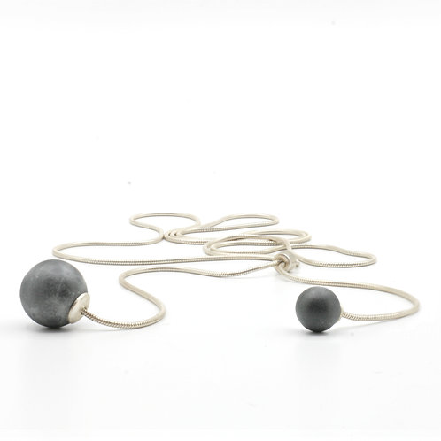 Pearl Necklace | Cool Grey | Silver