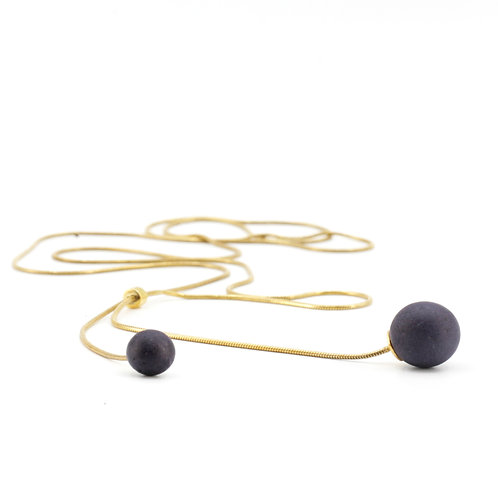 Pearl Necklace | Violett | Gold