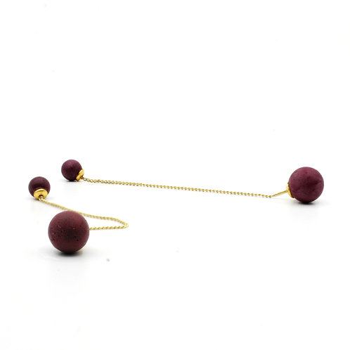 Pearl Earring | Very Berry | Gold