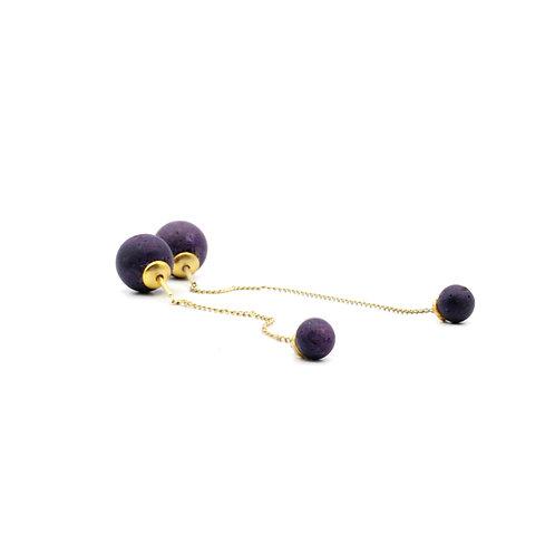 Pearl Earring | Violett | Gold