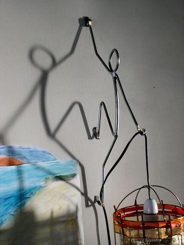 wall climber sculpture