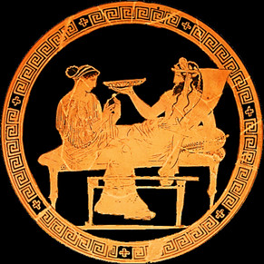 Hades and Persephone, Greek Kylix