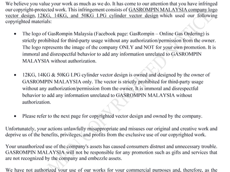 INFRINGEMENT OF COPYRIGHTED MATERIALS