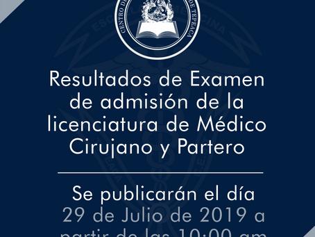 Resultados de Licenciatura en Médico Cirujano y Partero ¡Mantente al tanto!