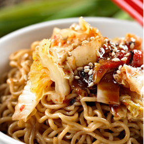 Saucy Sesame Noodles with Cabbage