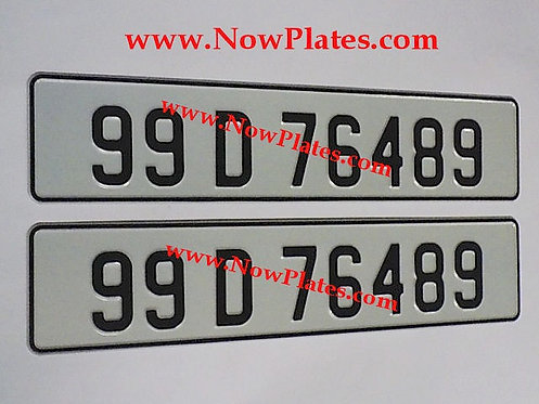 Pair of Retro Pressed Plates ( 70mm ) with a colour choice