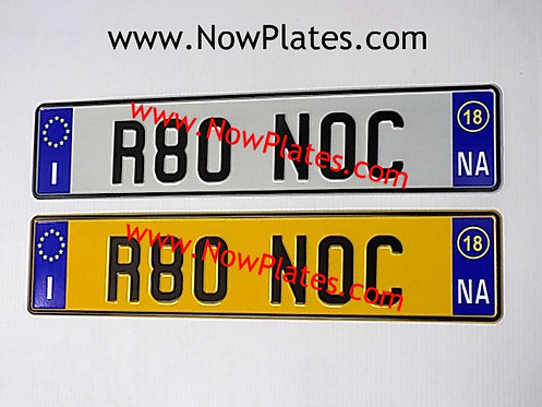 Pair of Italian pressed White Plates with options ( IT2NA)70