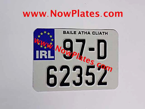 IRL Pressed Motorcycle Plate with size choice