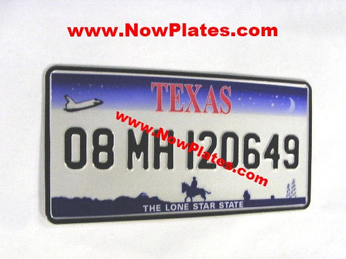 1 Only TEXAS pressed Plate Square with Small No's 300x150mm