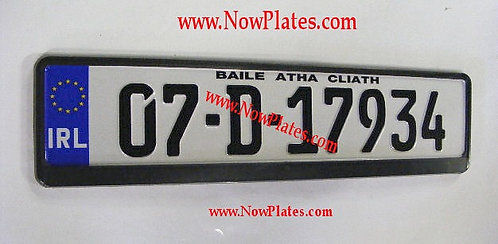 Pair of IRL German pressed Plates with Plain Frames of your choice (PLFR4)