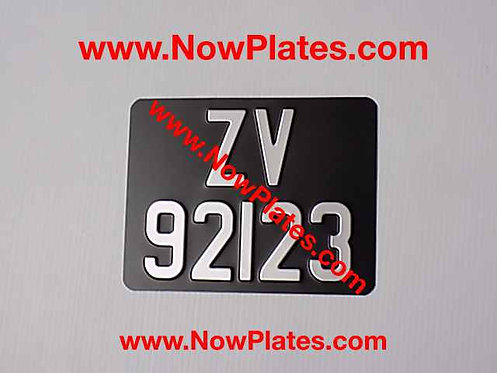 Pressed Motorcycle Plate with a Size and Colour Choice  (W4)