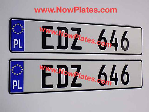 Choice of Euro Flag German White Pressed Plates x2