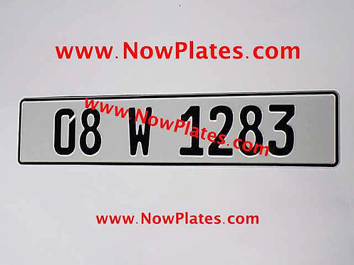 1 Only Plain German pressed Oblong Plate with a Colour Choice