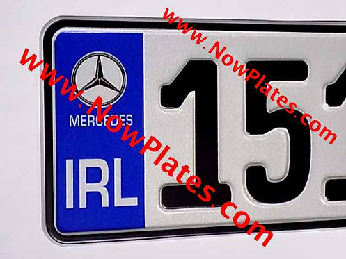 Pair of German pressed Number Plates with Logo's Choice