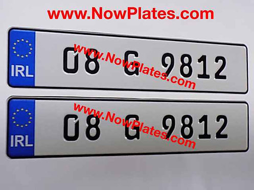 German FE Pressed Oblong Pressed Plates with medium size No's (41)
