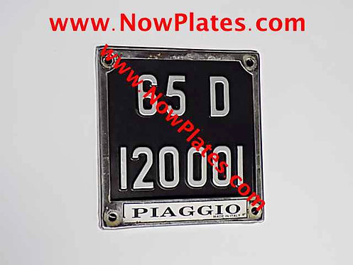 Black and Silver Pressed Motorcycle Plate Small No's 165x165mm to Suit Frame