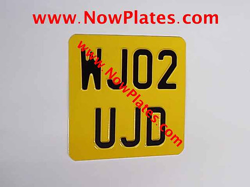 Pressed Motorcycle Plate  165 x 165mm with a Colour Choice / Medium (W3)