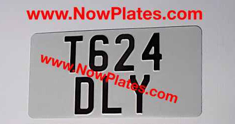 1 Only Plain Pressed Plate with Large  No's and a Colour Choice 330x165mm