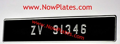 1 Only Pressed Plate with Small No's with a Size and Colour Choice (F2)