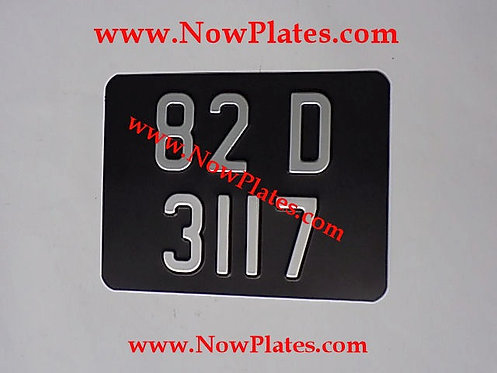 Pressed Motorcycle Plate  with a Colour and Size Choice with Medium No's