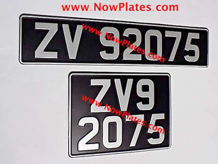 Irish ZV Vintage Registration Number Plates