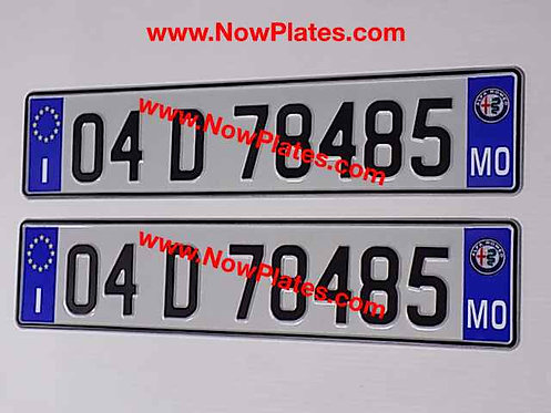 Pair of Italian I and ALFA pressed Plates with options ( ITMO2)70