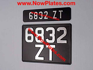 Custom made Vehicle ZV Vintage Pressed Number Plates are available from our web shop at www.NowPlate