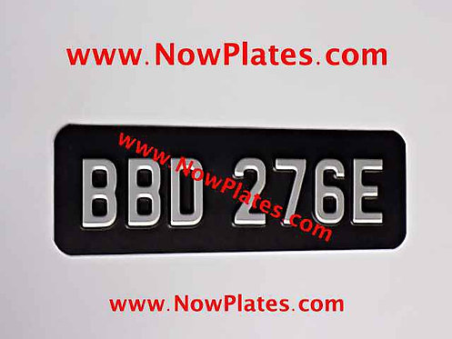 Small Front Plate Small No's with a Size and Colour Choice (MH09)