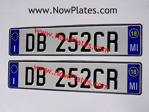 Pair of Italian pressed White Plates with options ( ITMO3)