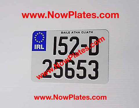IRL Pressed Motorcycle Plate Medium No's with size choice (T)