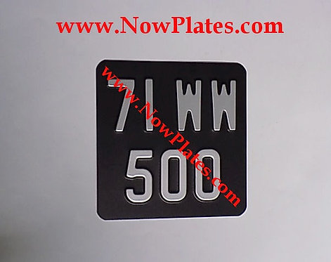 Pressed Motorcycle Plate with a Colour Choice with Medium No's 165x165m