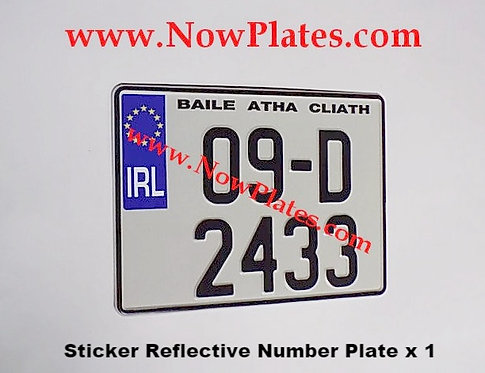 IRL Euro Sticker Plate with a Size Choice