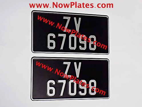 Vintage Black and Silver Pressed Plates x2 ( 55mm ) with size Choice